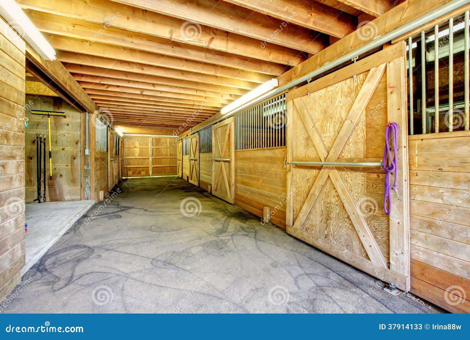 Large Farm Horse Stable Barn. Stock Image - Image: 37914133