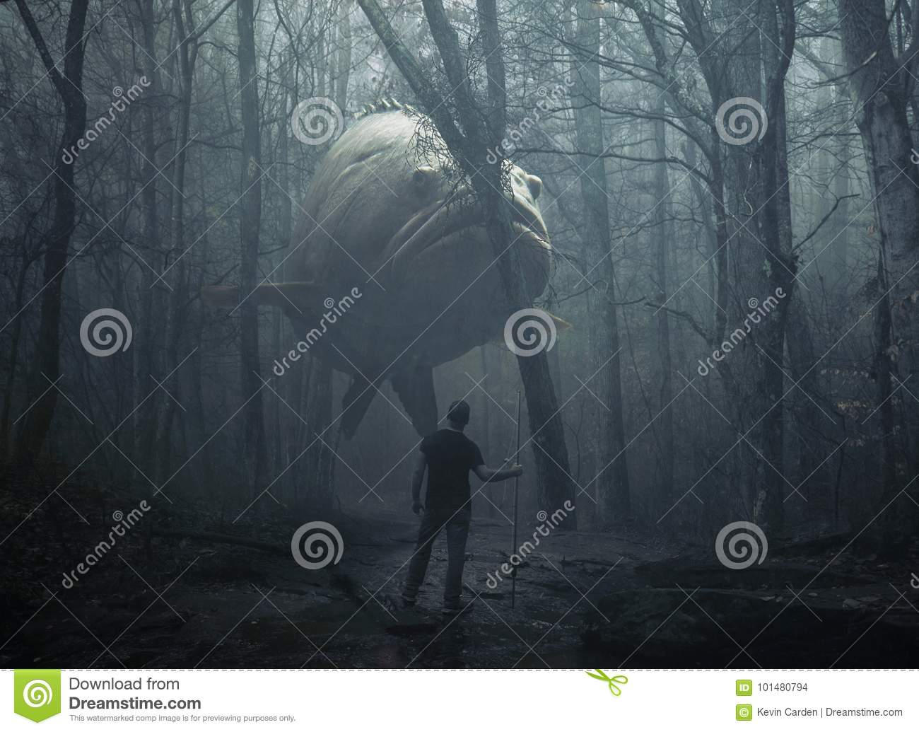 Large fish in the forest