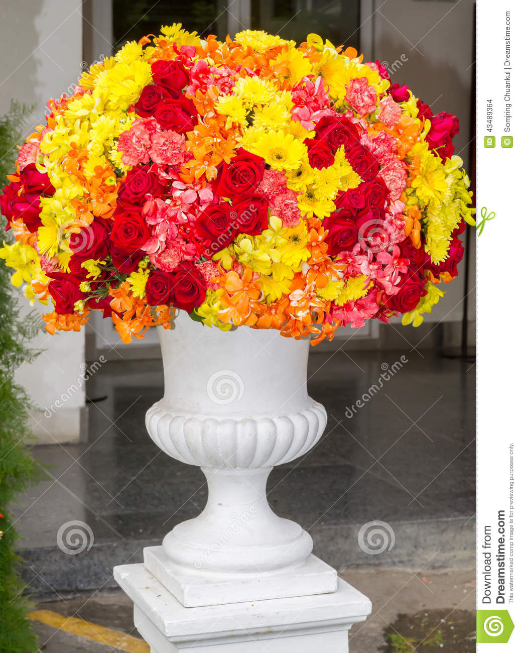 Large flower vase is based on white cement stock photo image of large flower vase is based on white cement reviewsmspy
