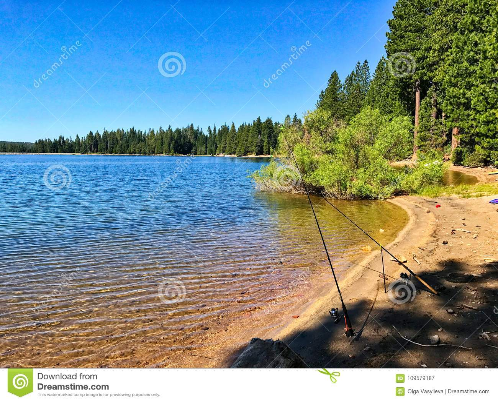 Large Freshwater Lake  California Stock Image - Image of summertime