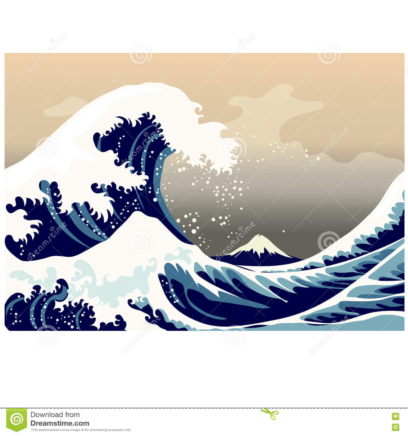 tsunami cartoon cartoons illustrations amp vector stock