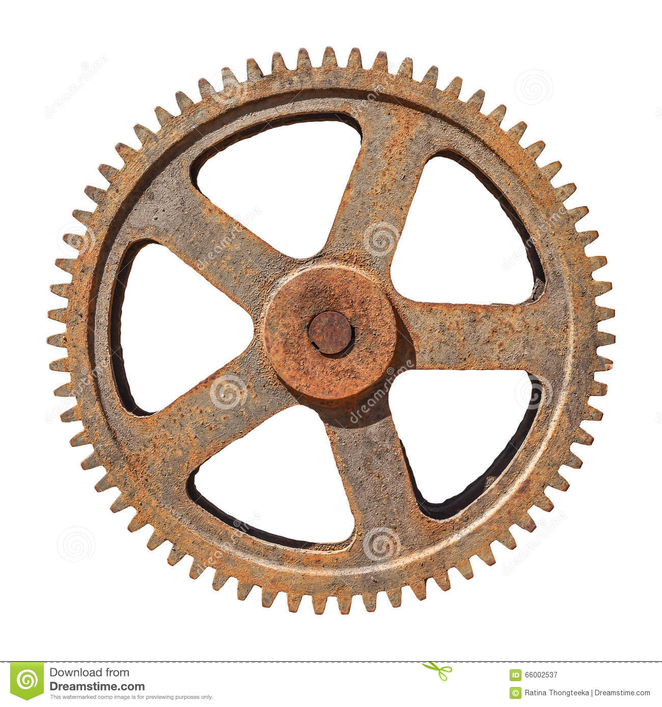 large gear wheel cogs rusty on white background stock image image