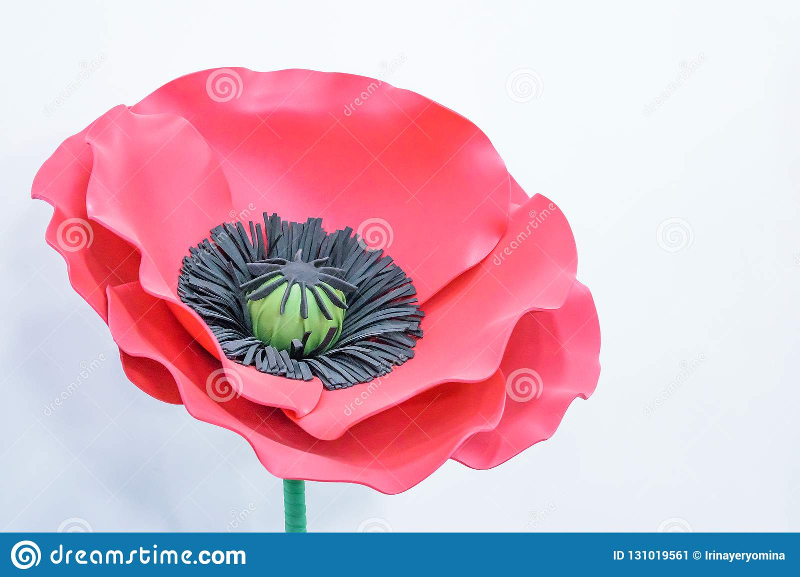 Large Giant Paper Flowers Big Pink Red Poppy Made From Paper Stock
