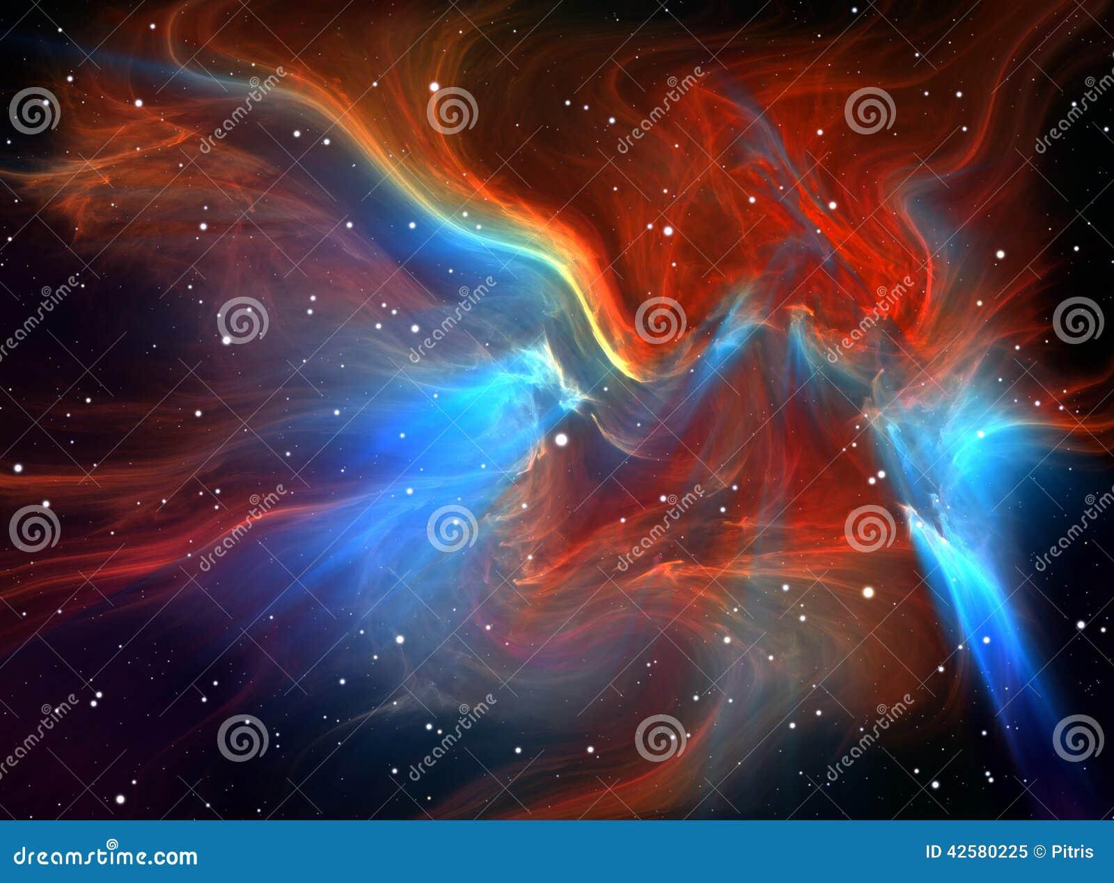 Large glowing nebula