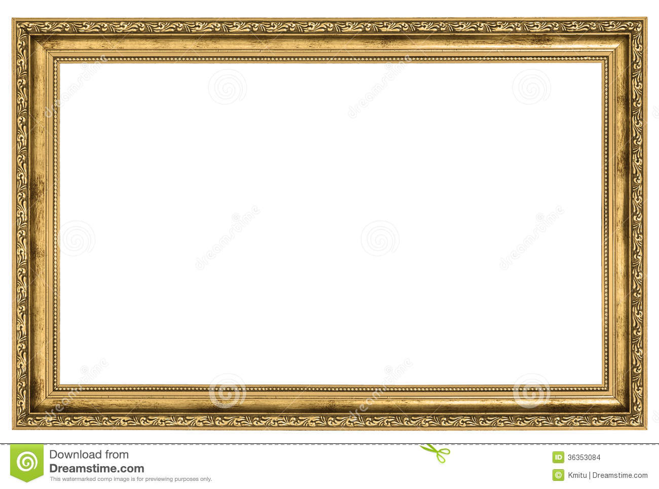 Large golden frame stock photo image of gild old copy for Large a frame