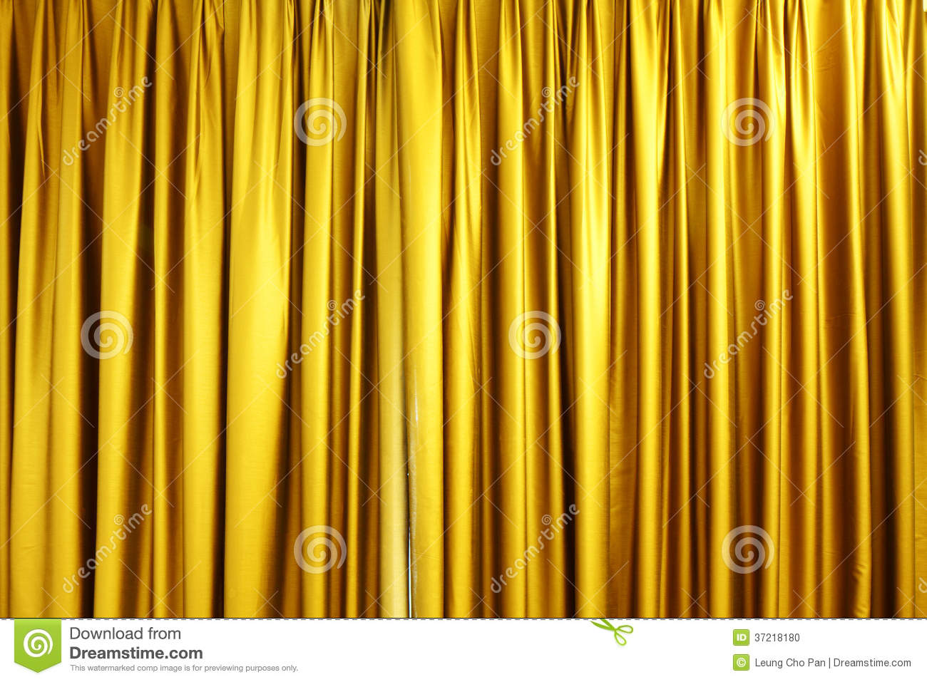 Large Golden Stage Curtain Stock Photo Image 37218180