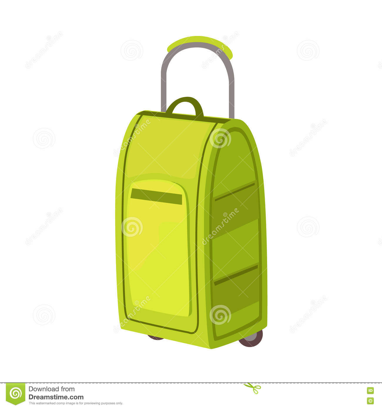a7457cd3c6d9 Large Green Suitcase On Wheels With Telescopic Handle Item From ...