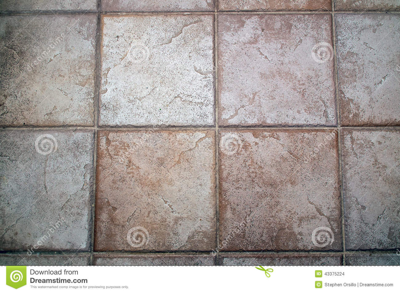 Large Grey Stone Floor Tile Background Stock Photo Image
