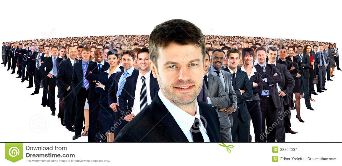Large Group Of Businesspeople Royalty Free Stock Photography - Image ...