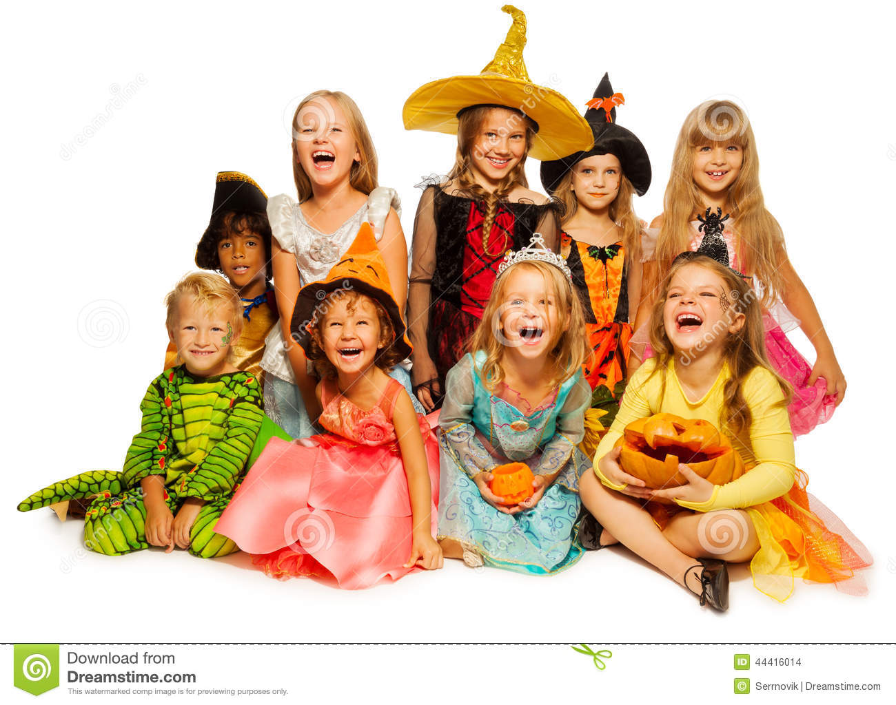 royaltyfree stock photo download large group of kids in halloween costumes