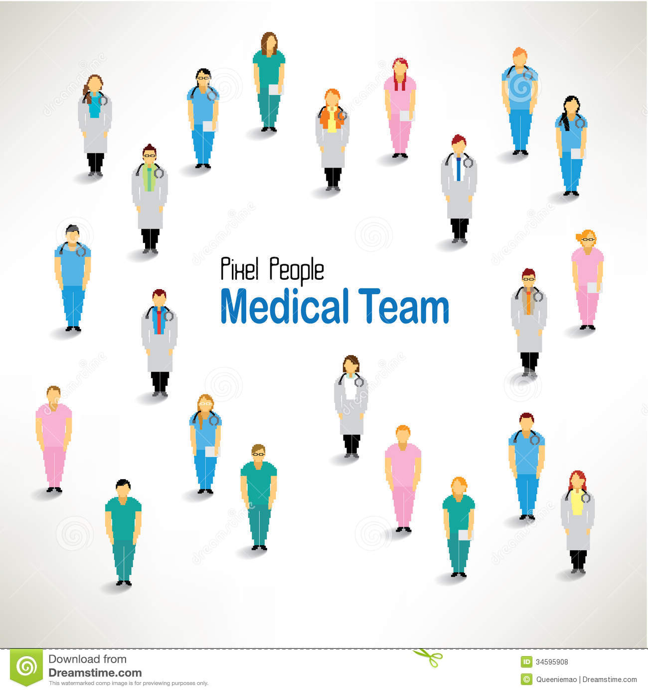 A Large Group Of Medical Team Gather Design Royalty Free