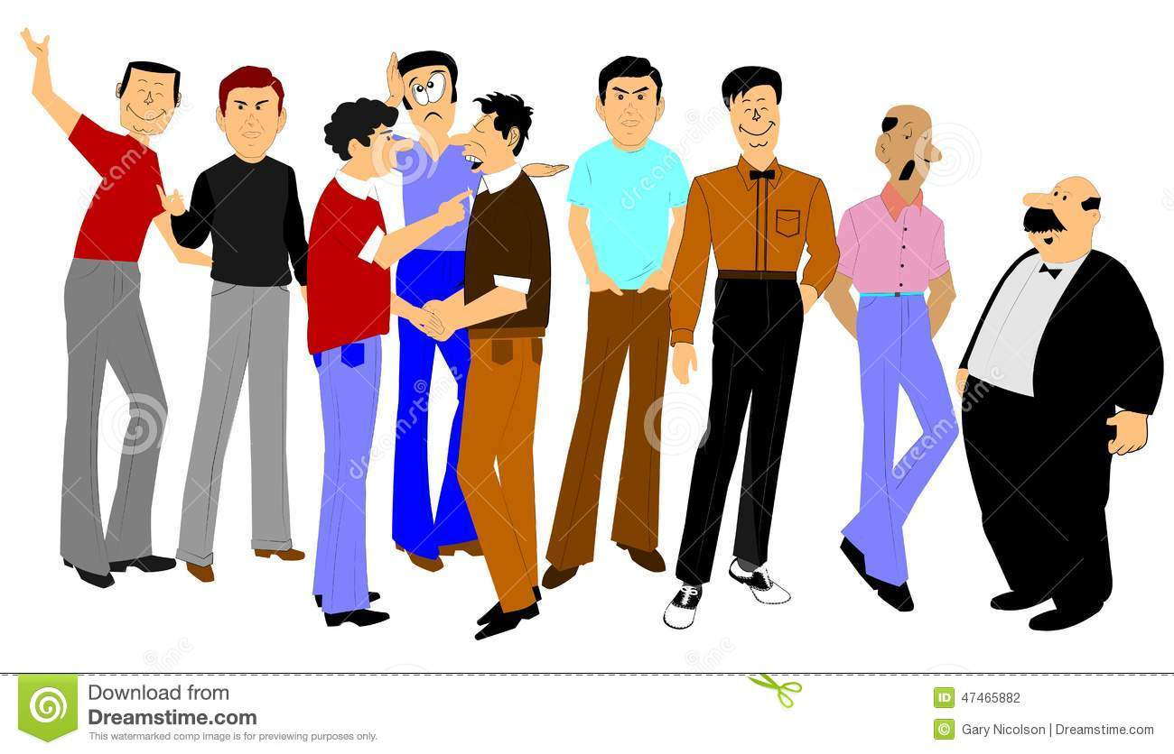 Large Group Of Men In Argument Stock Illustration - Image ...