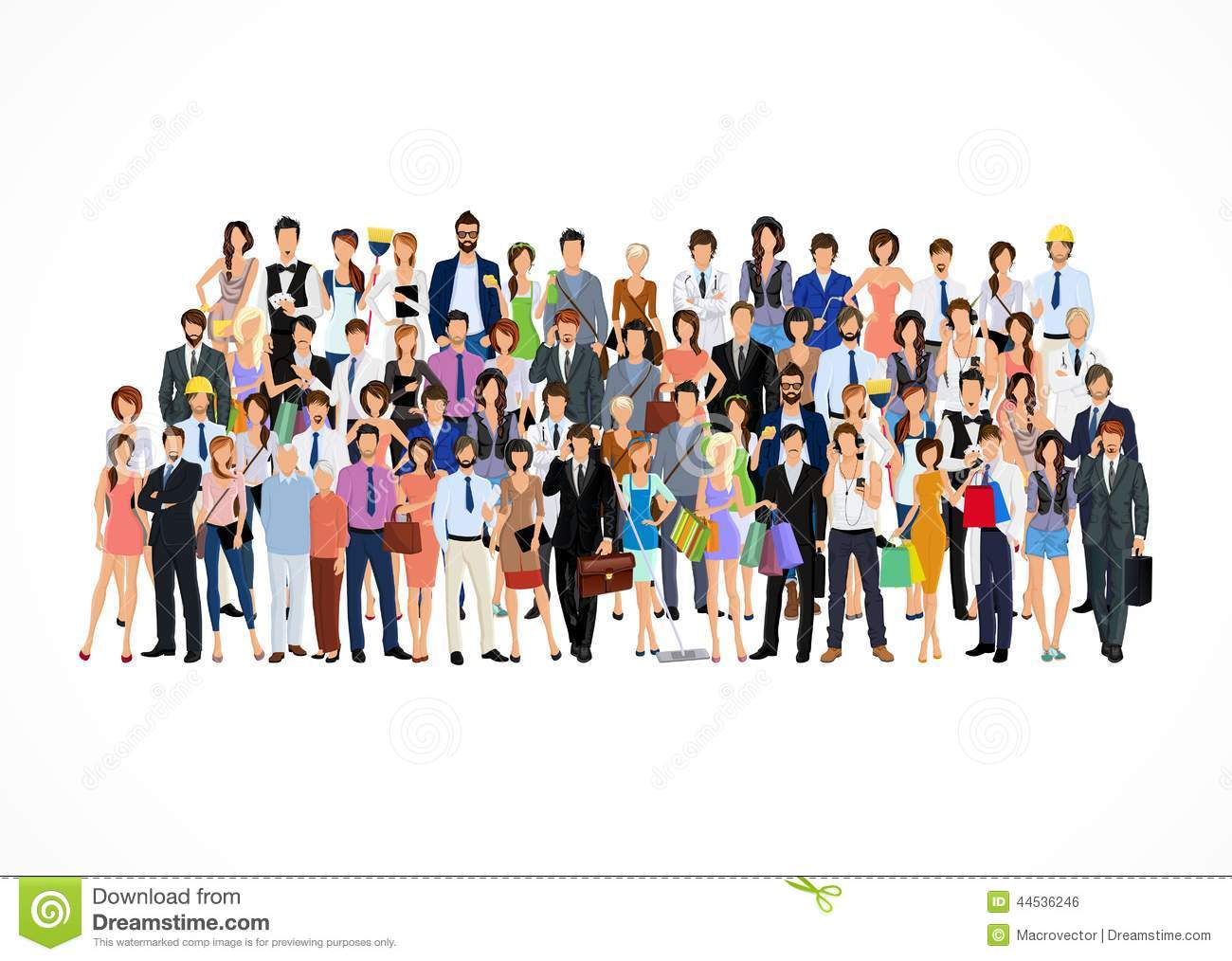 large group of people stock vector illustration of market 44536246 rh dreamstime com Small Group of People Group of Cartoon People Clip Art