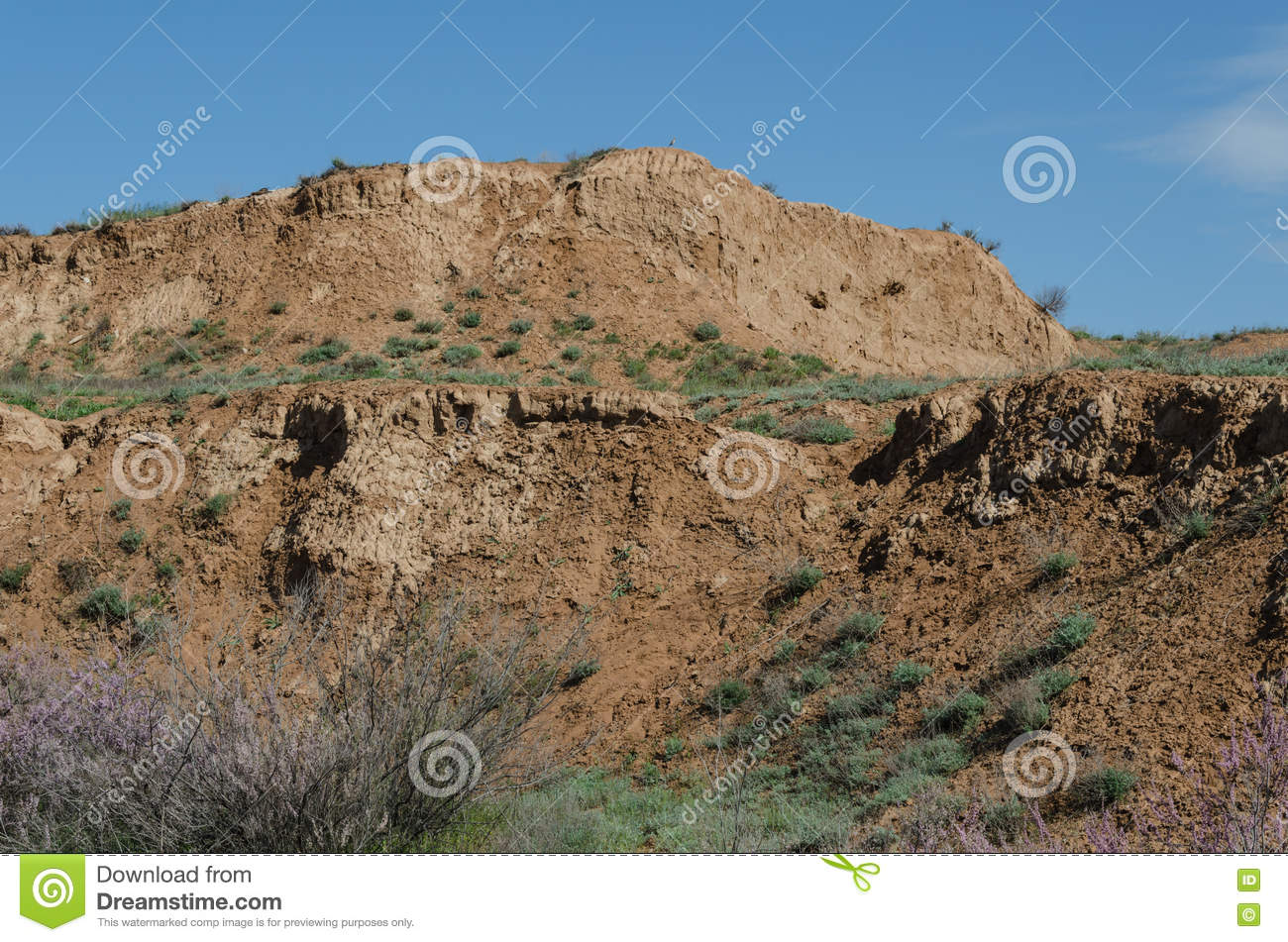 The large hill in the steppe