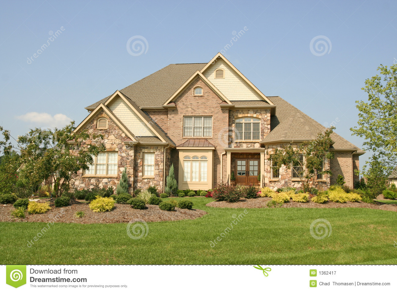 Large House Royalty Free Stock Photography Image 1362417