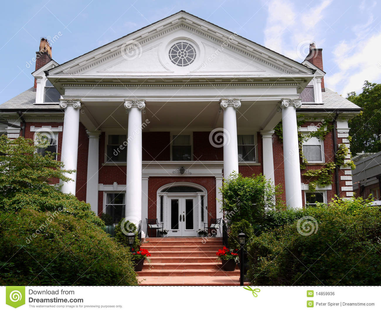 Large House With Columns Royalty Free Stock Image  Image 14859936