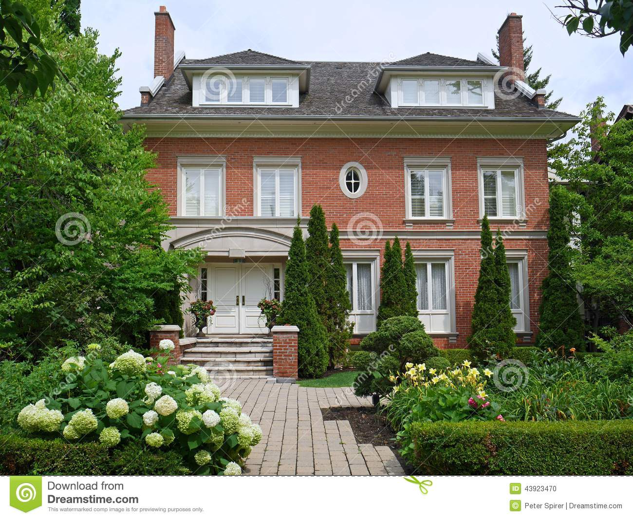 Large house stock photo image of expensive garden brick for Large house windows