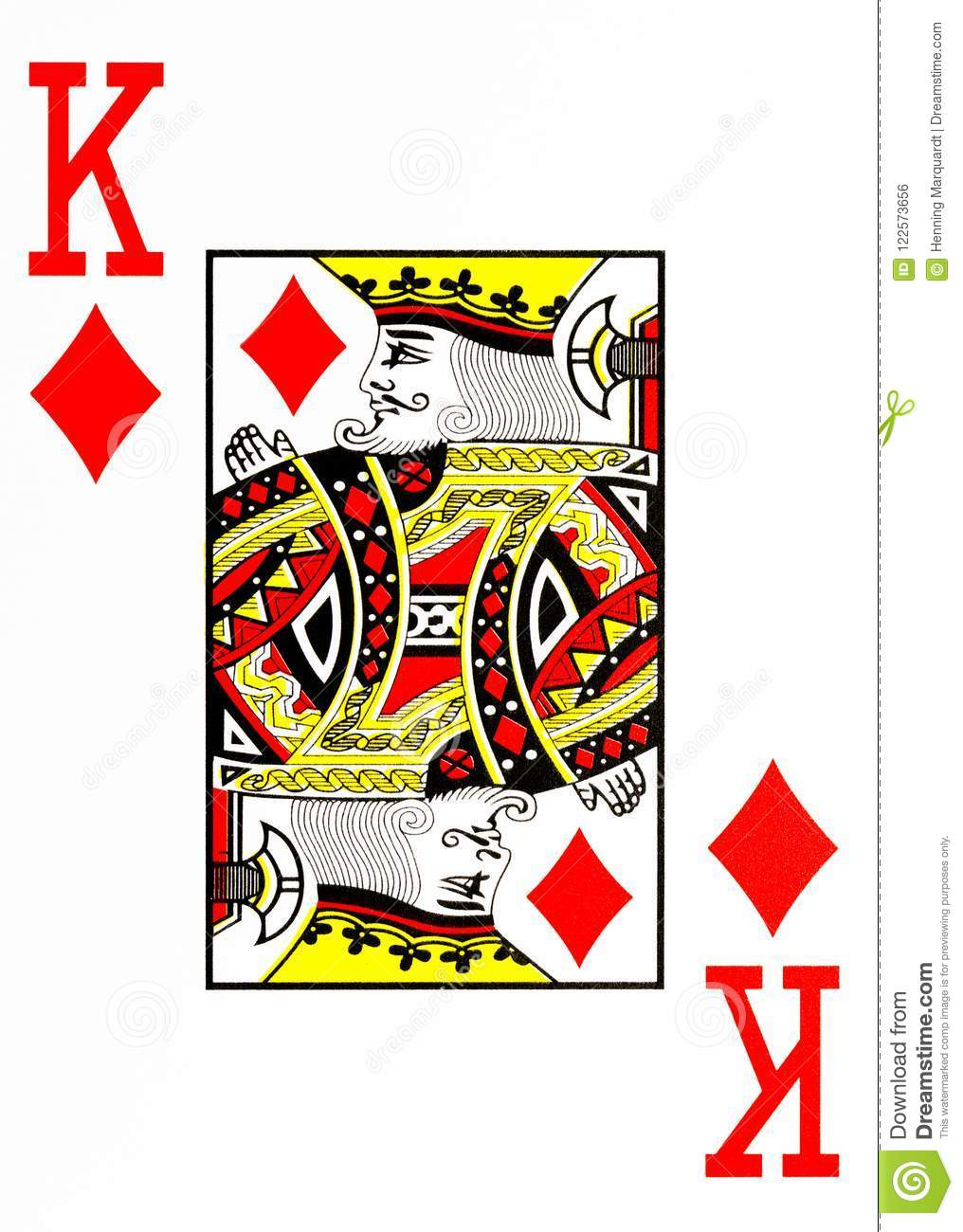 image relating to Printable Playing Card Stock known as Enormous Index Actively playing Card King Of Diamonds Inventory Case in point