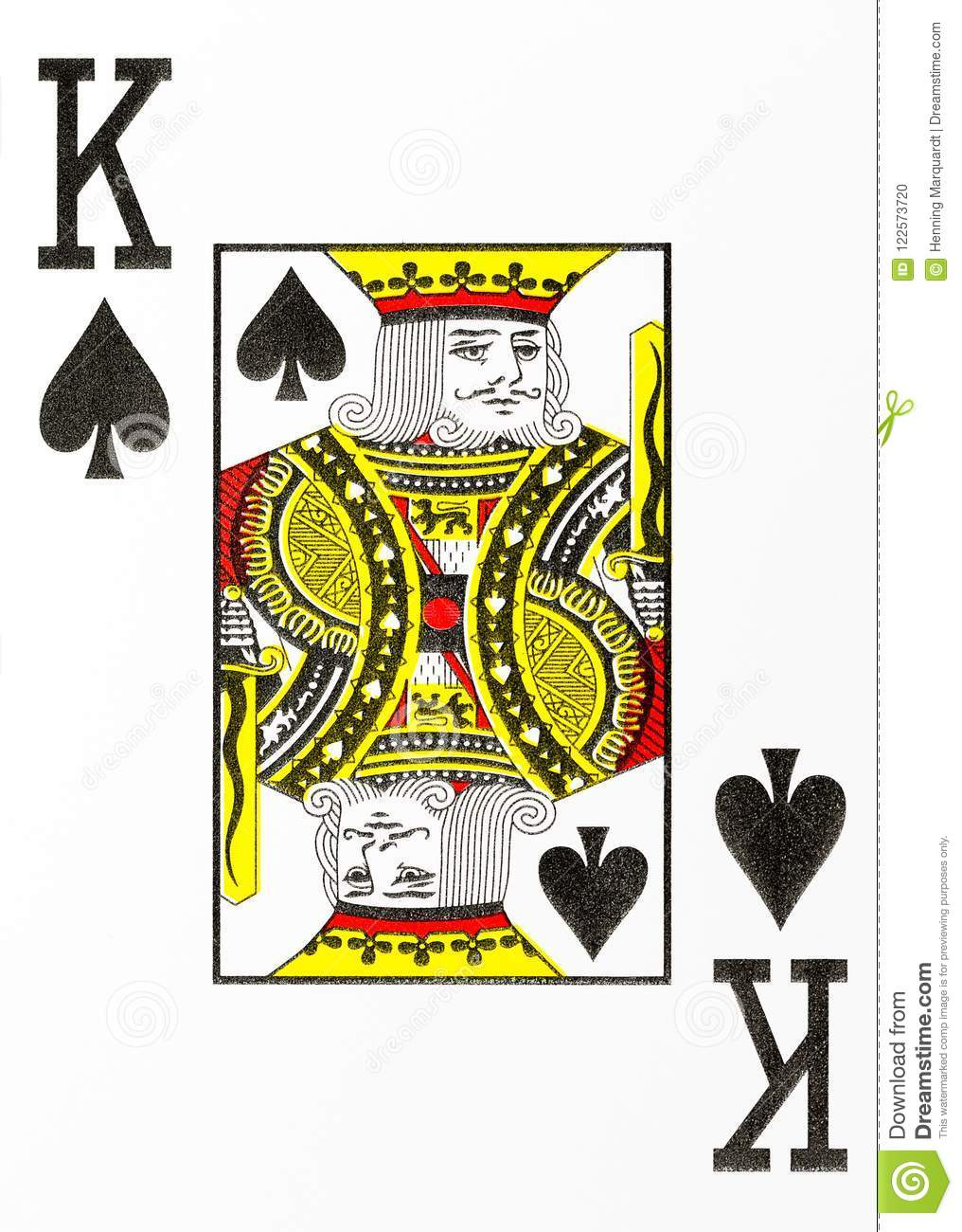 Large Index Playing Card King Of Spades Stock Illustration