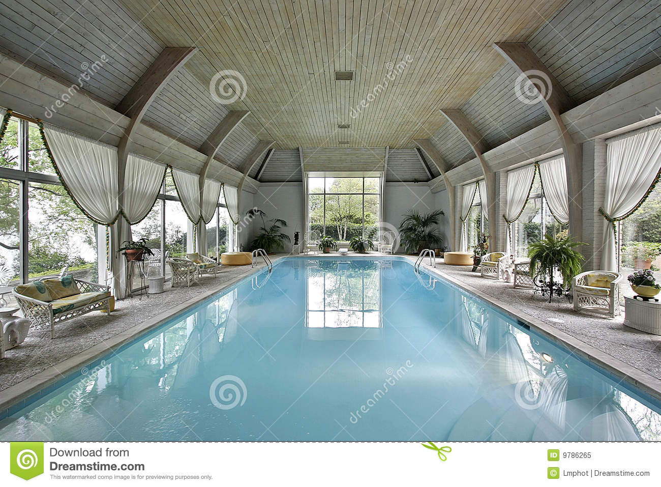 Indoor Wedding Venue Royalty Free Stock Photo: Large Indoor Swimming Pool Stock Image. Image Of Spacious