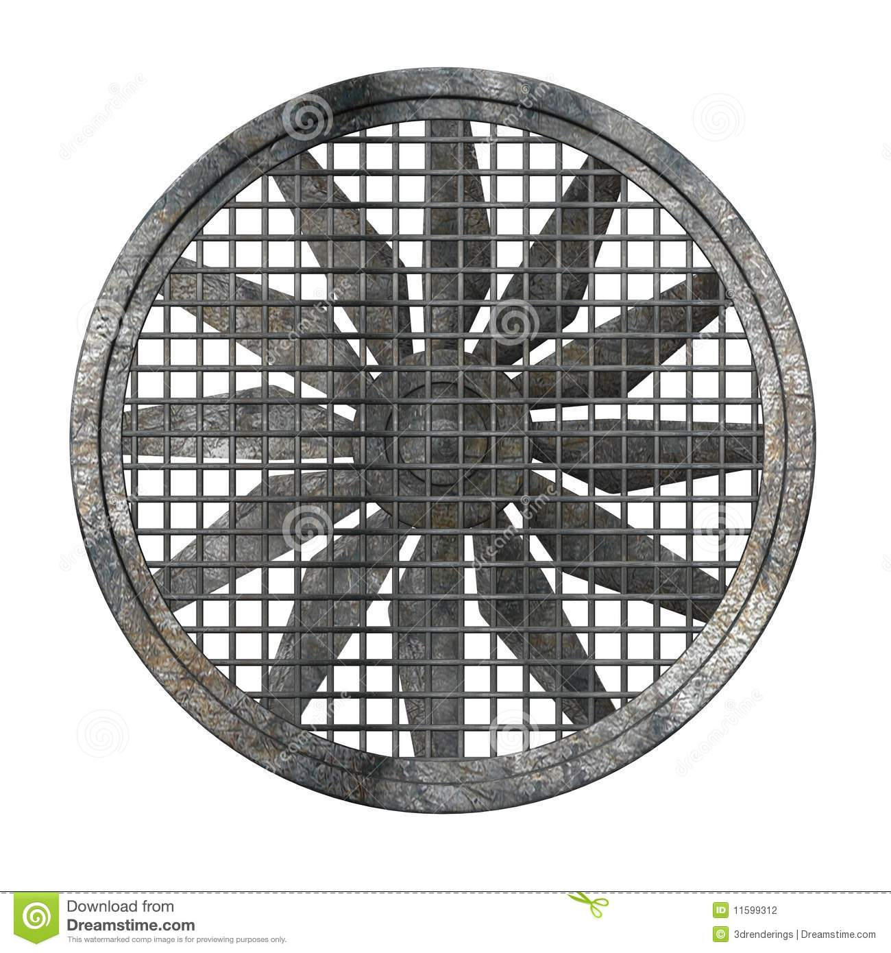 Large Industrial Fans : Large industrial fan stock illustration of