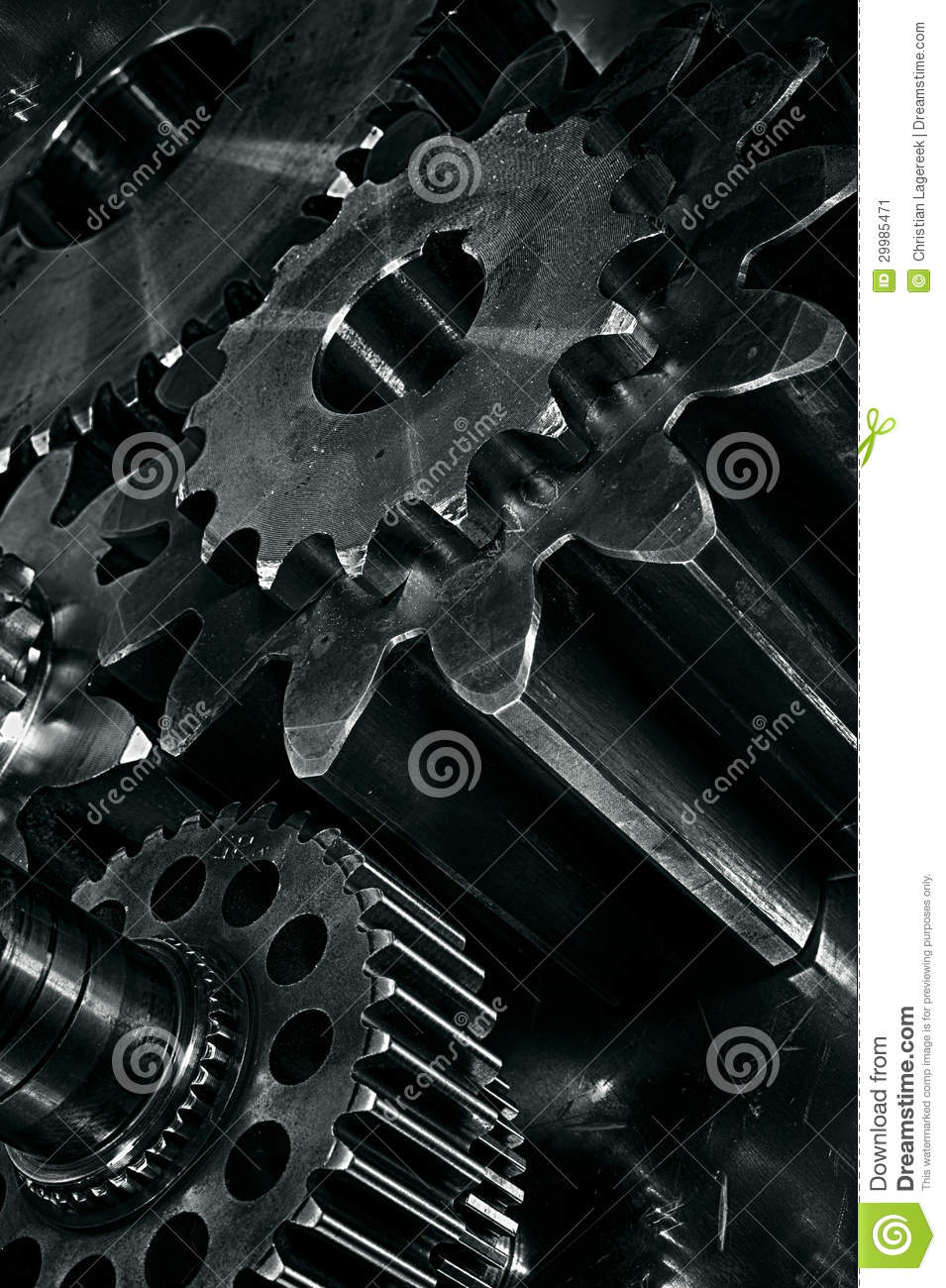 gears in a titanium and steel concept stock image image 29985471. Black Bedroom Furniture Sets. Home Design Ideas