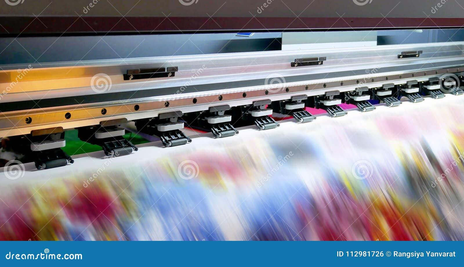 Large inkjet printing machine