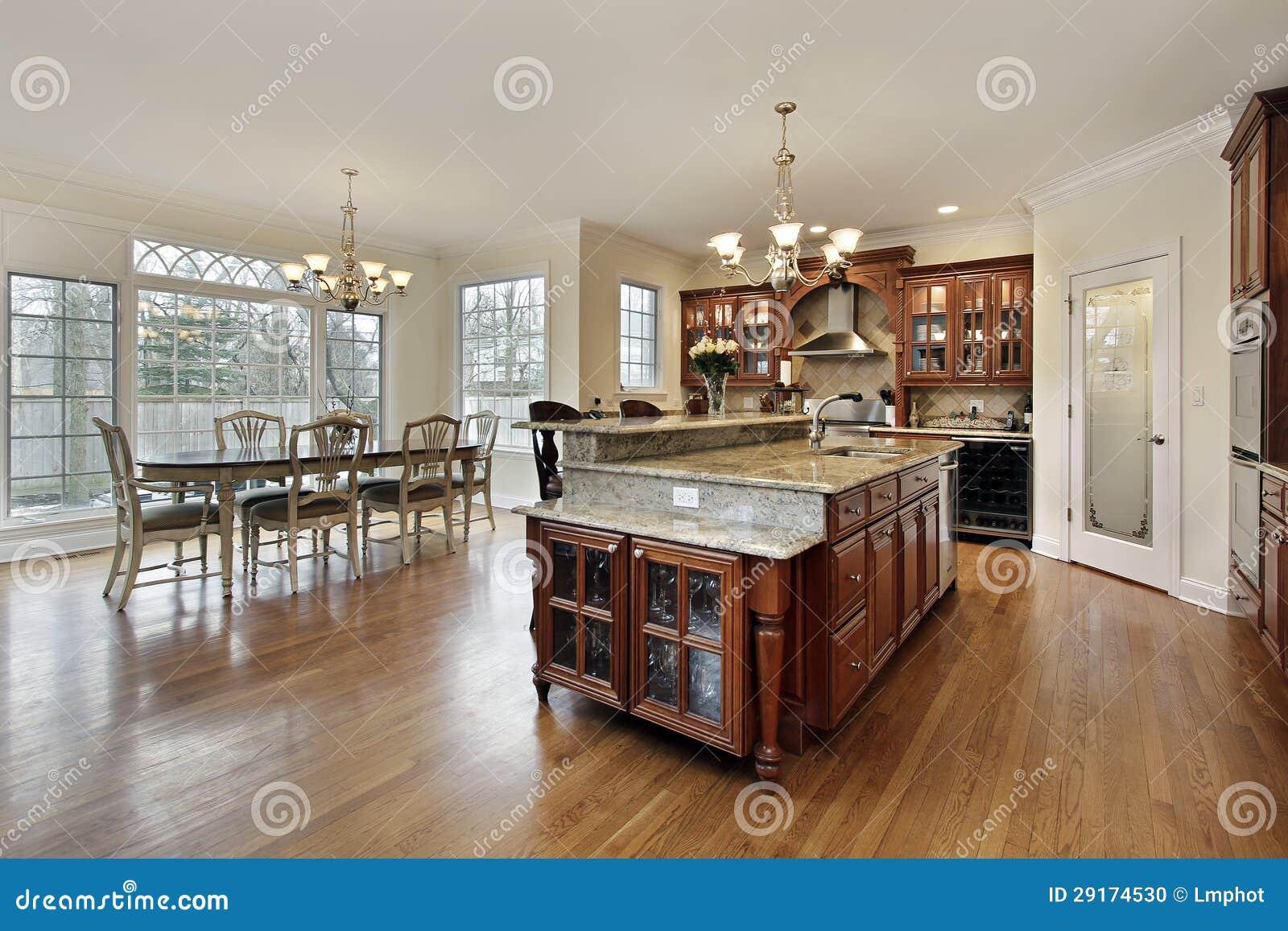 Large Kitchen With Eating Area Stock Photo Image 29174530