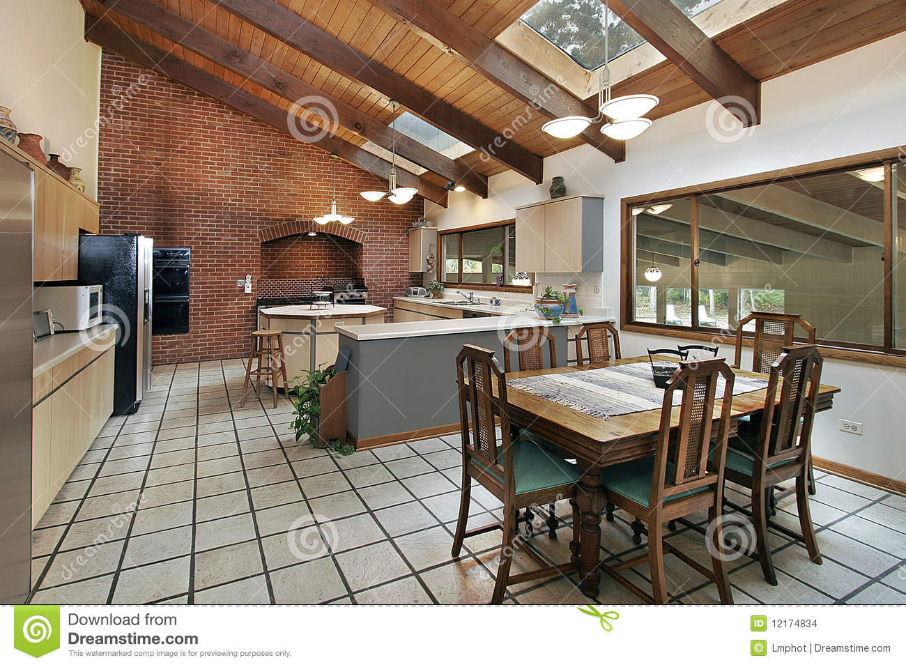 Large kitchen with skylights stock images image 12174834 for Large skylights