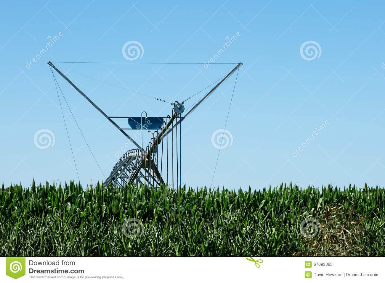 large lateral move irrigation system stock photo image  large lateral move irrigation system