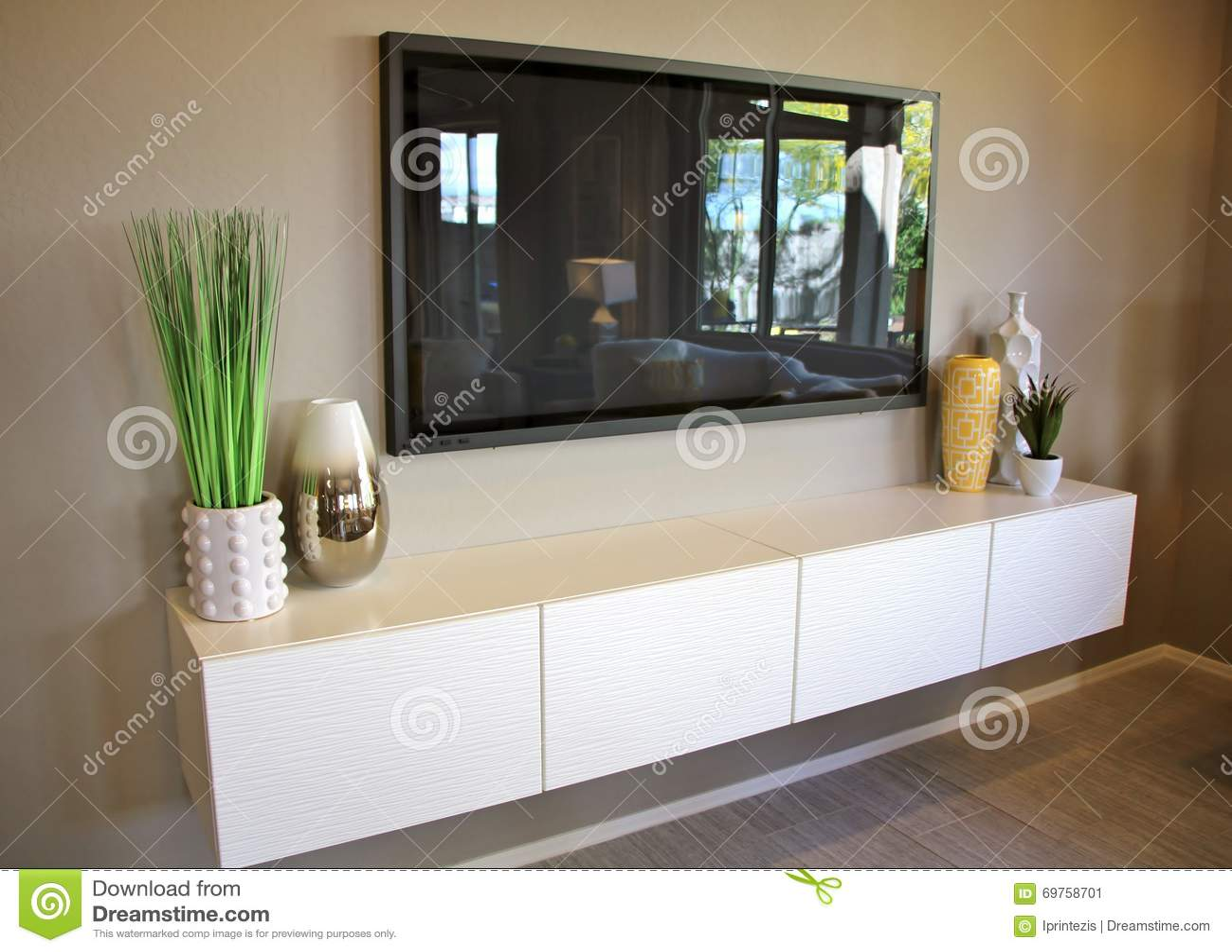 Large LCD TV Setting