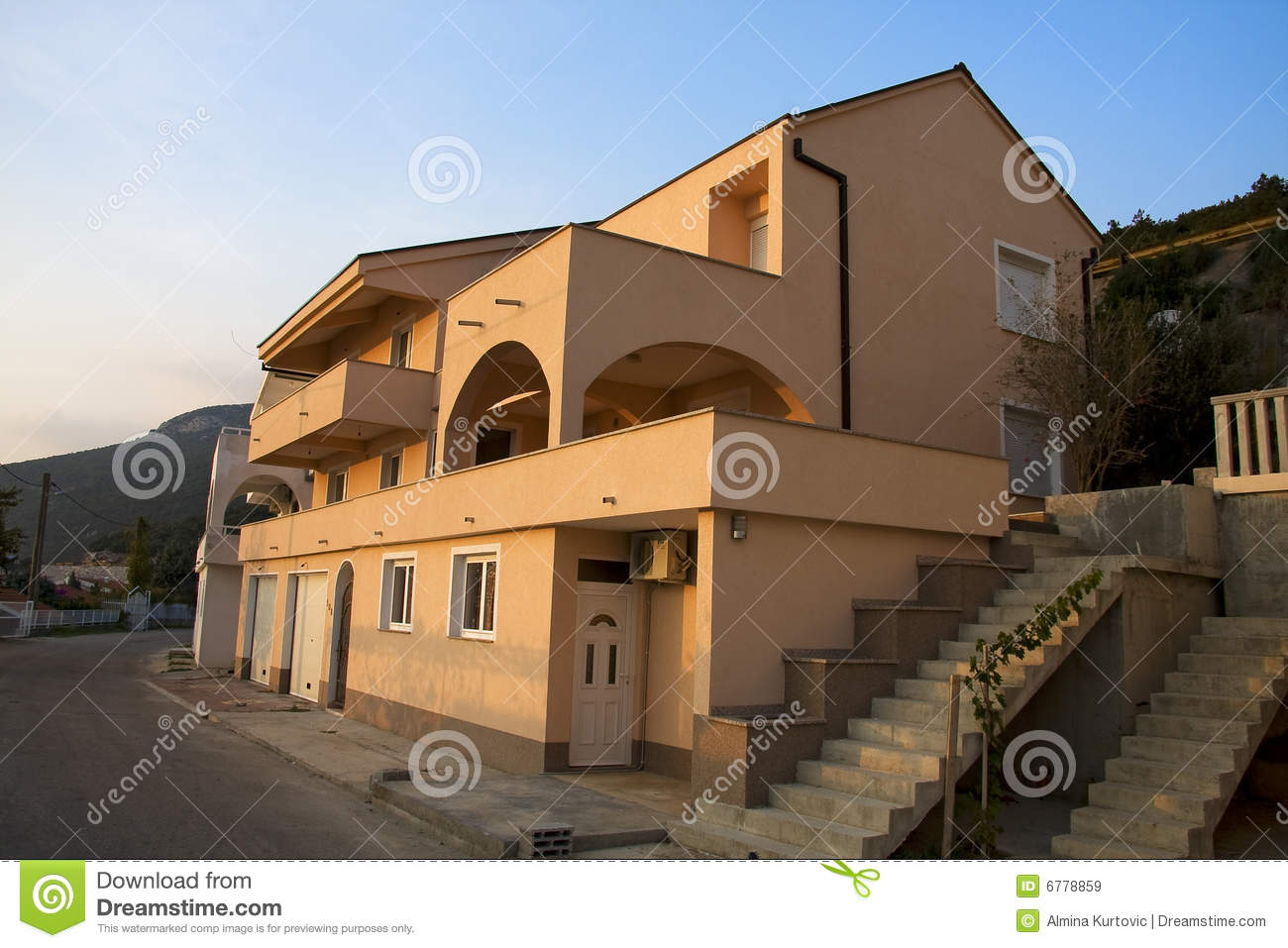 Large light brown house stock image image of dwelling for Light brown house