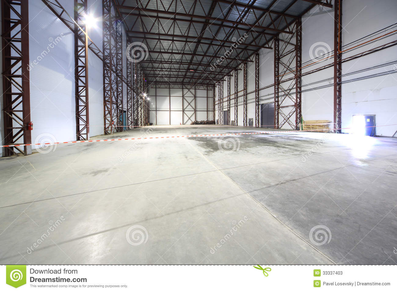 Large Light Empty Hangar Stock Image Image Of Floor