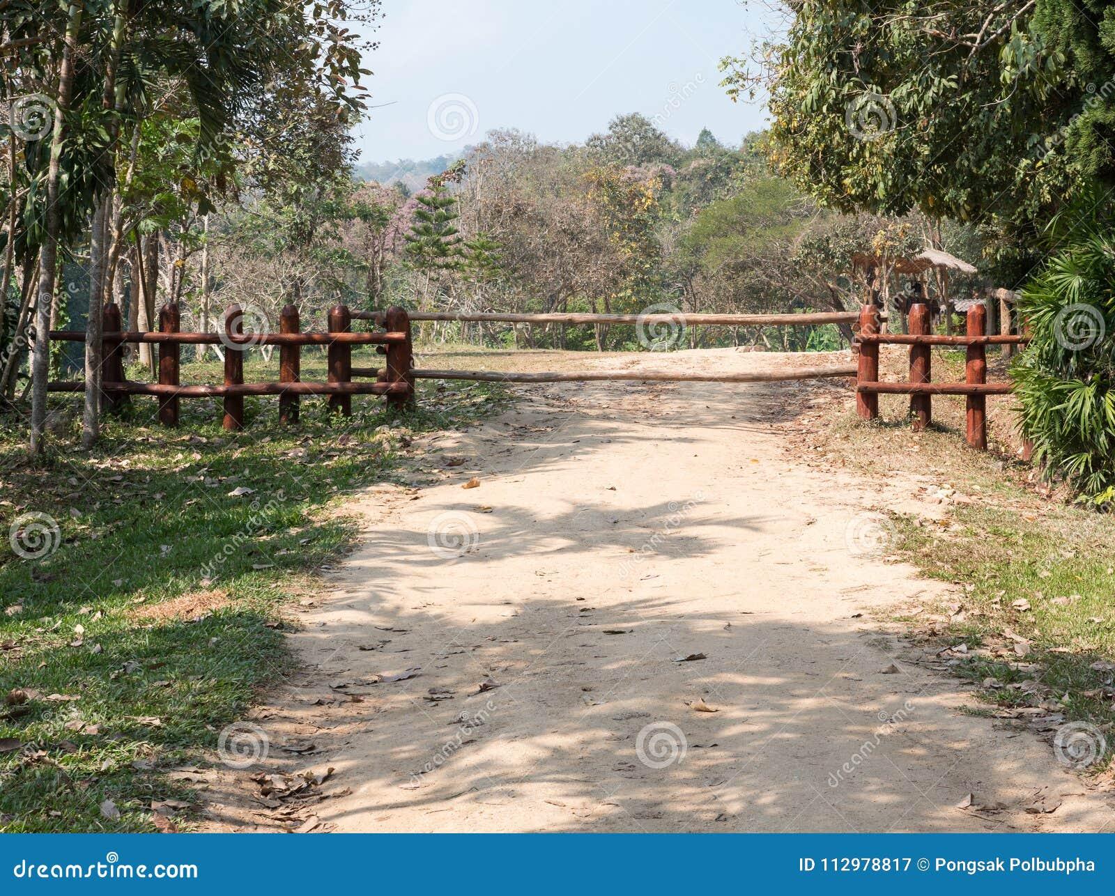 Large log fence.