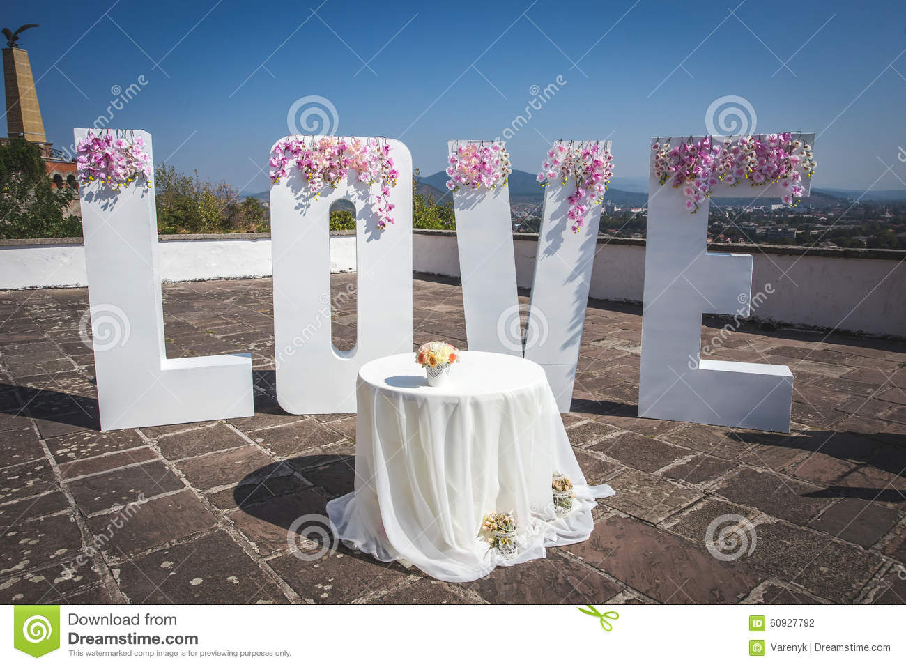 Large Love Letters Stock Photo Image Of Flower Large