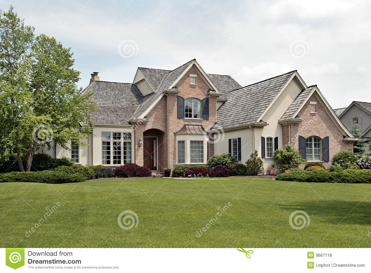 Large luxury brick home royalty free stock photos image for Large luxury homes