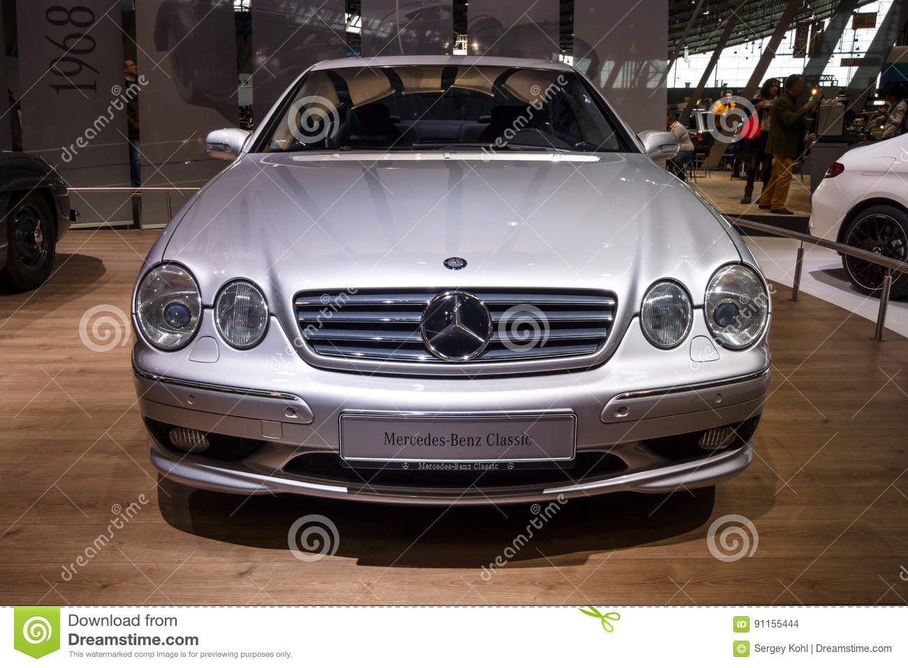 Large Luxury Grand Tourer Car Mercedes Benz Cl 55 Amg F1 Limited S Stuttgart Germany March 03 2017 Edition C215 2001 Europes Greatest Classic