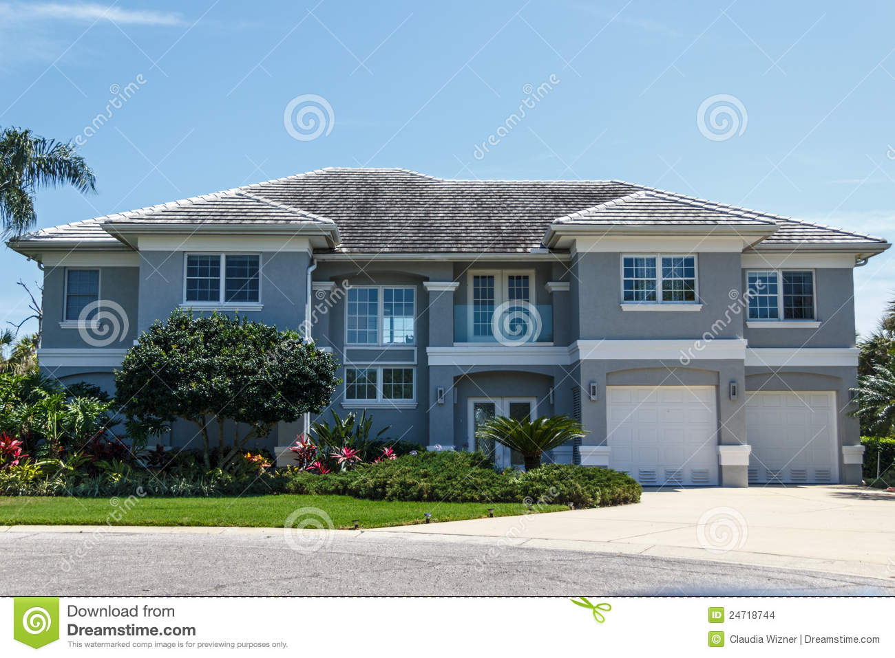 Large luxury home stock images image 24718744 for Large luxury homes