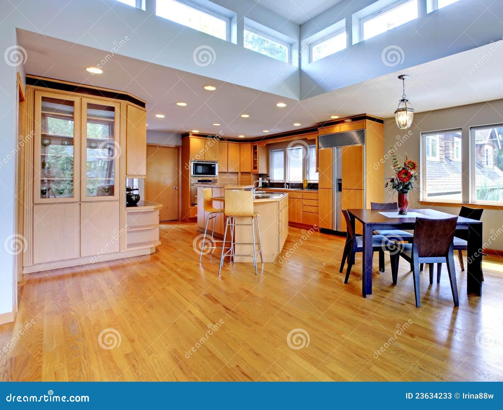 Large luxury modern wood kitchen