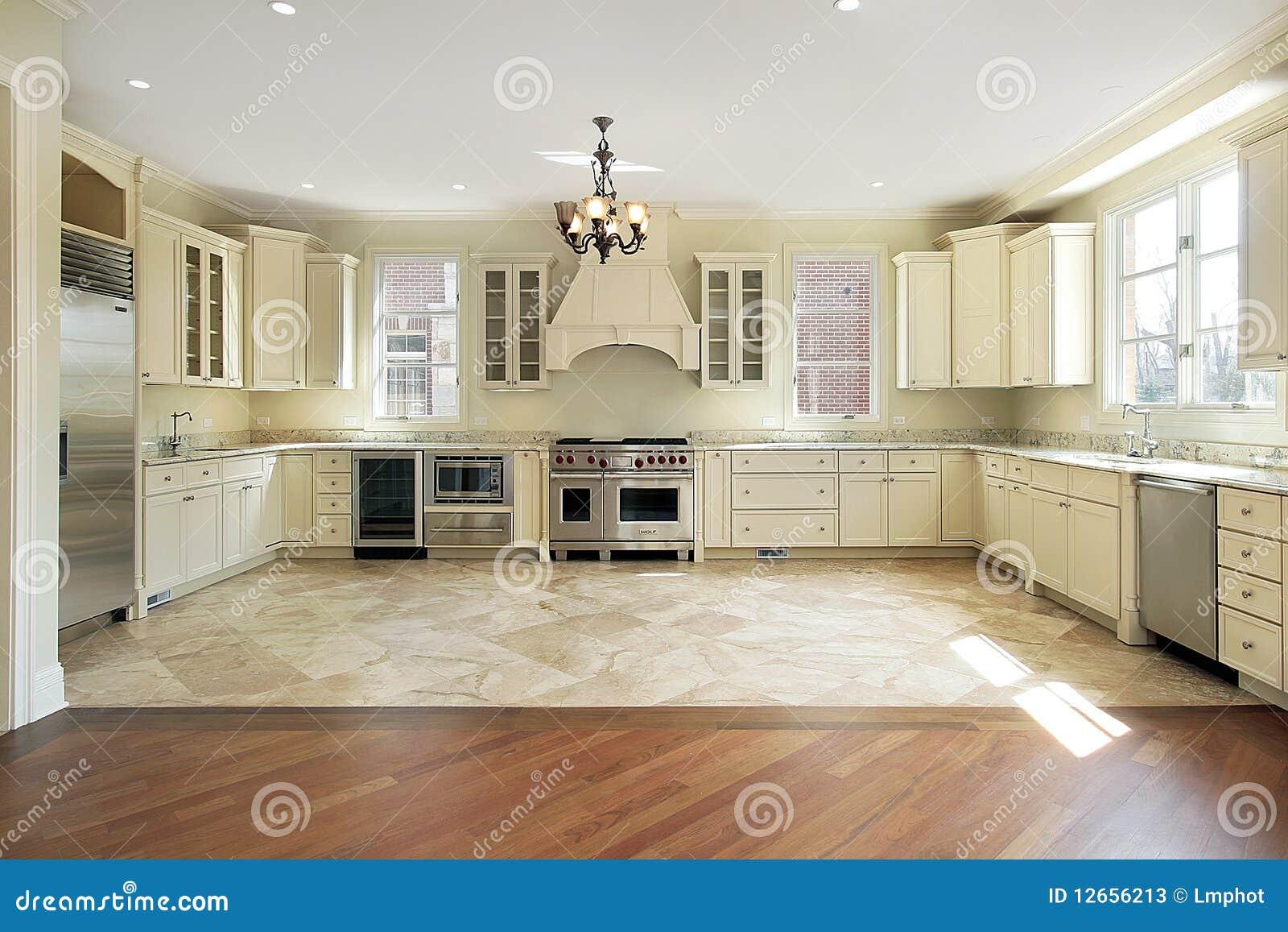 Large Luxury New Construction Kitchen Stock Image Image
