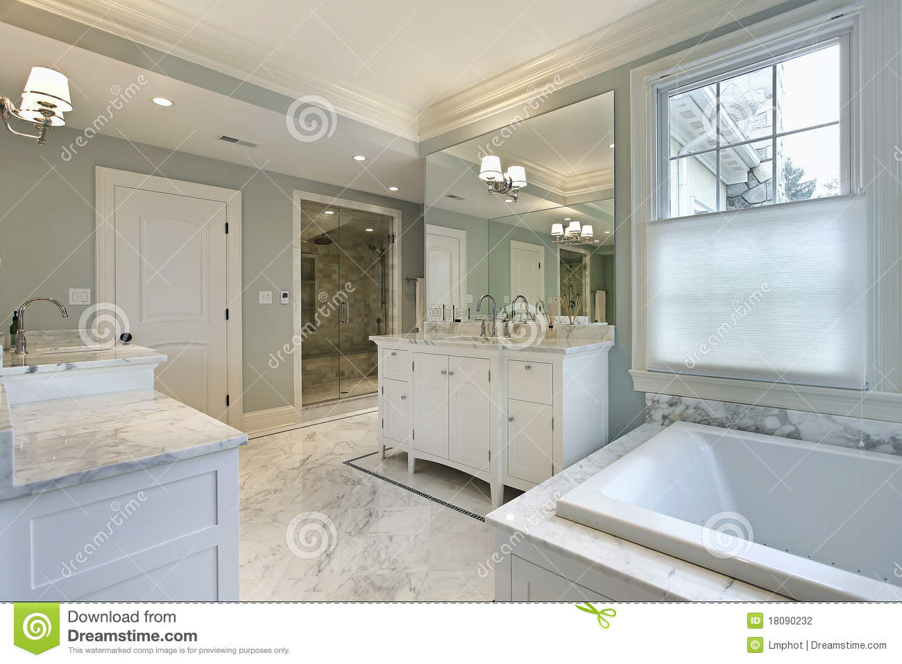 Large master bath in luxury home stock photo image 18090232 for Bathroom designs 12x8