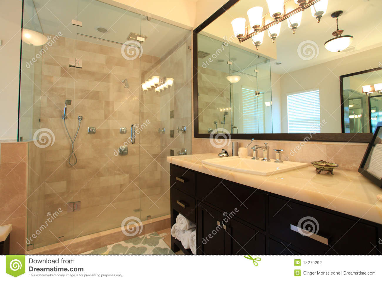 Large master bathroom stock photo image of bathroom for Huge master bathroom