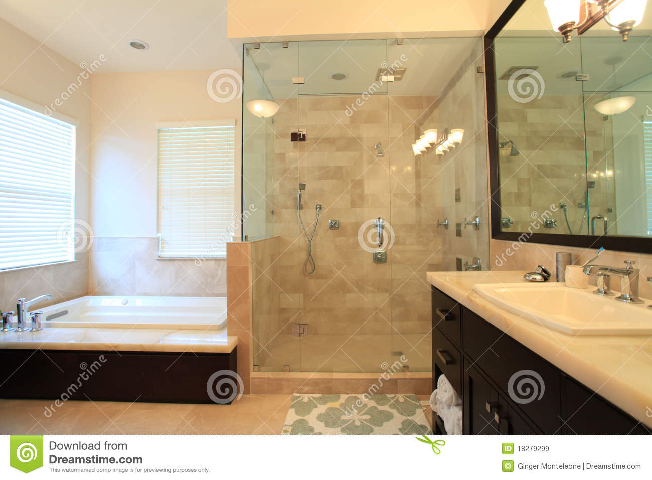 Large Master Bathroom Royalty Free Stock Images Image