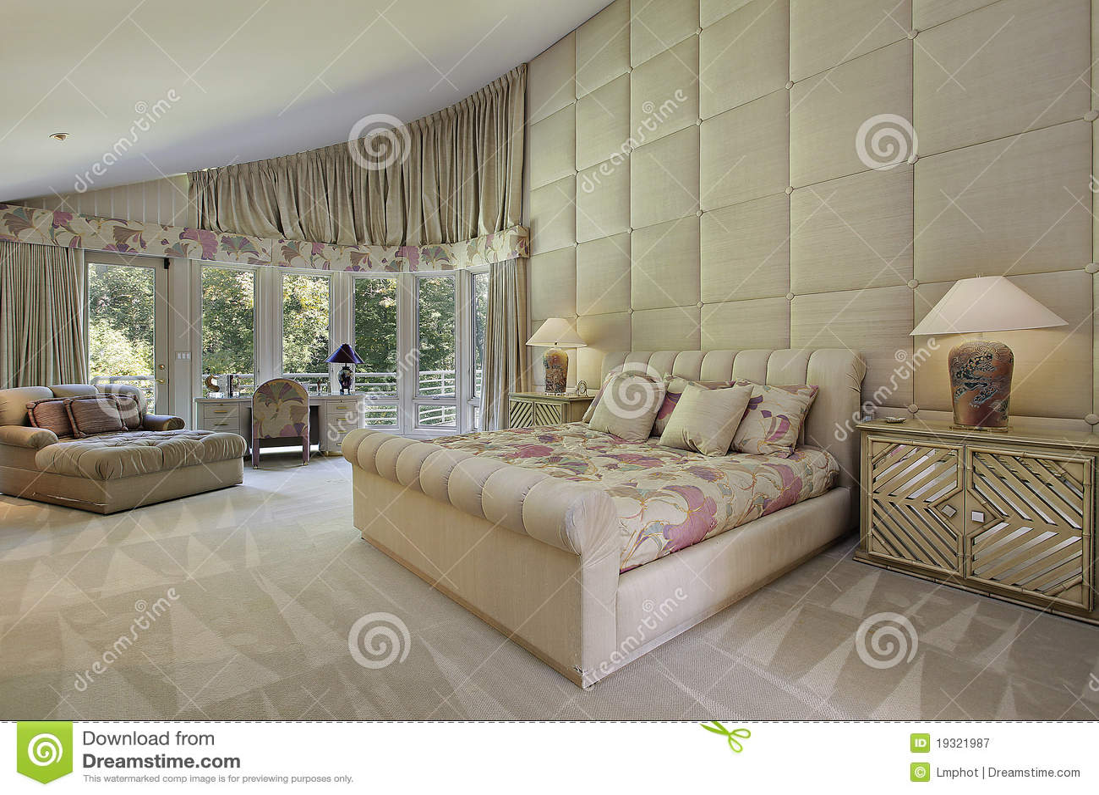 Large Master Bedroom Large Master Bedroom With Fireplace Stock Photo Image 55960248