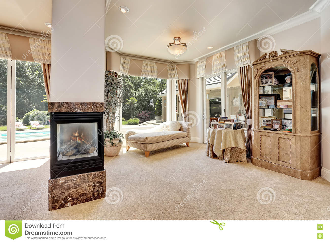 Luxury Homes Master Bedroom large master bedroom interior in luxury home with sitting room