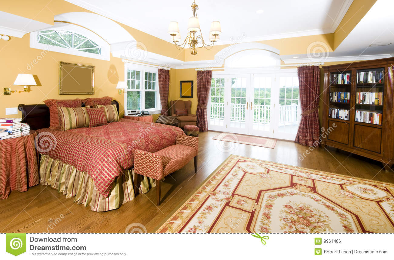 Large Master Bedroom With Window Light Royalty Free Stock