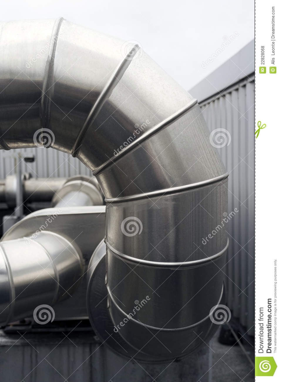 Metal Heating Ducts : Black ductwork royalty free stock photo cartoondealer