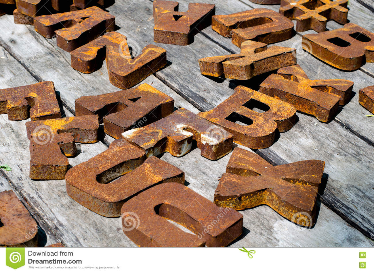 Large Metal Letters Stock Photo Image Of Alphabet Michigan 73787826