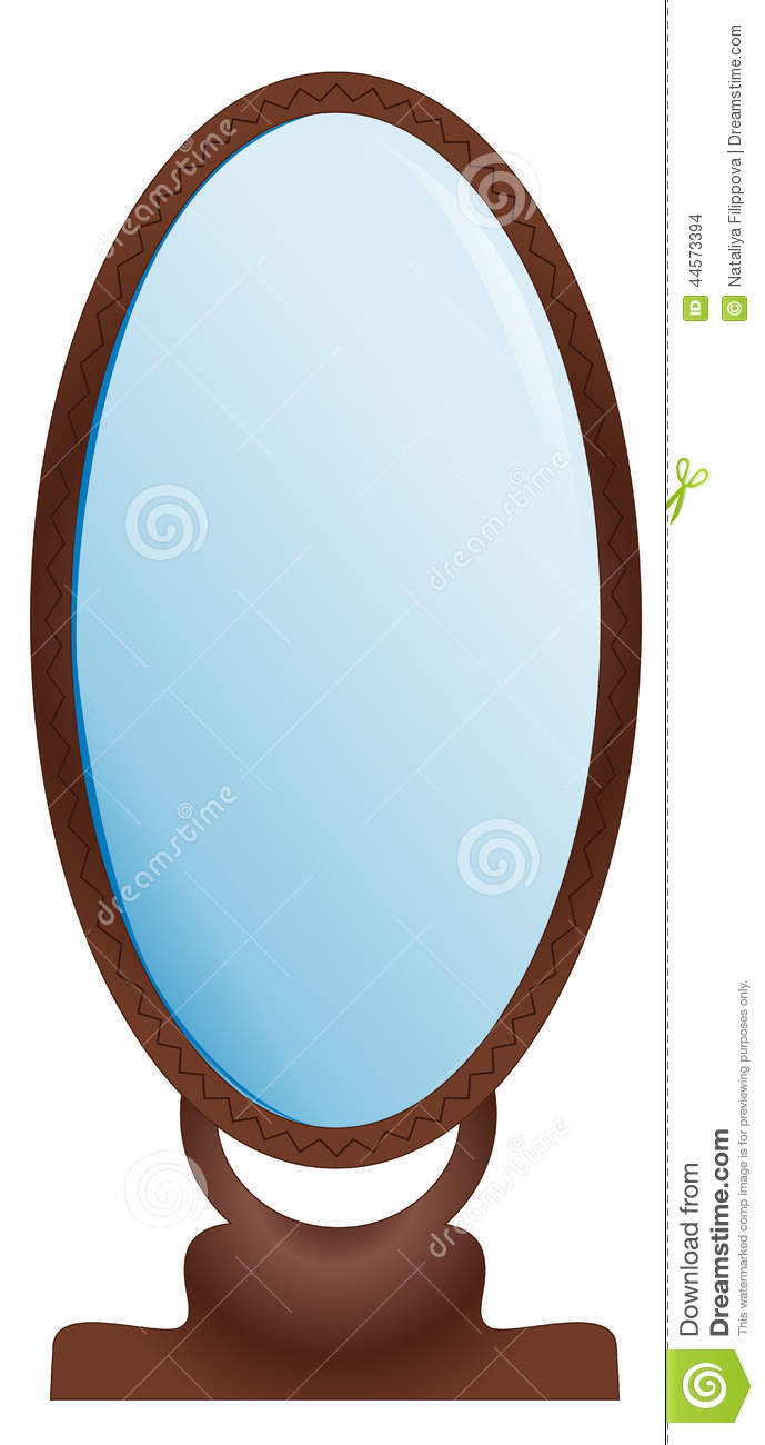 Large mirror stock vector image 44573394
