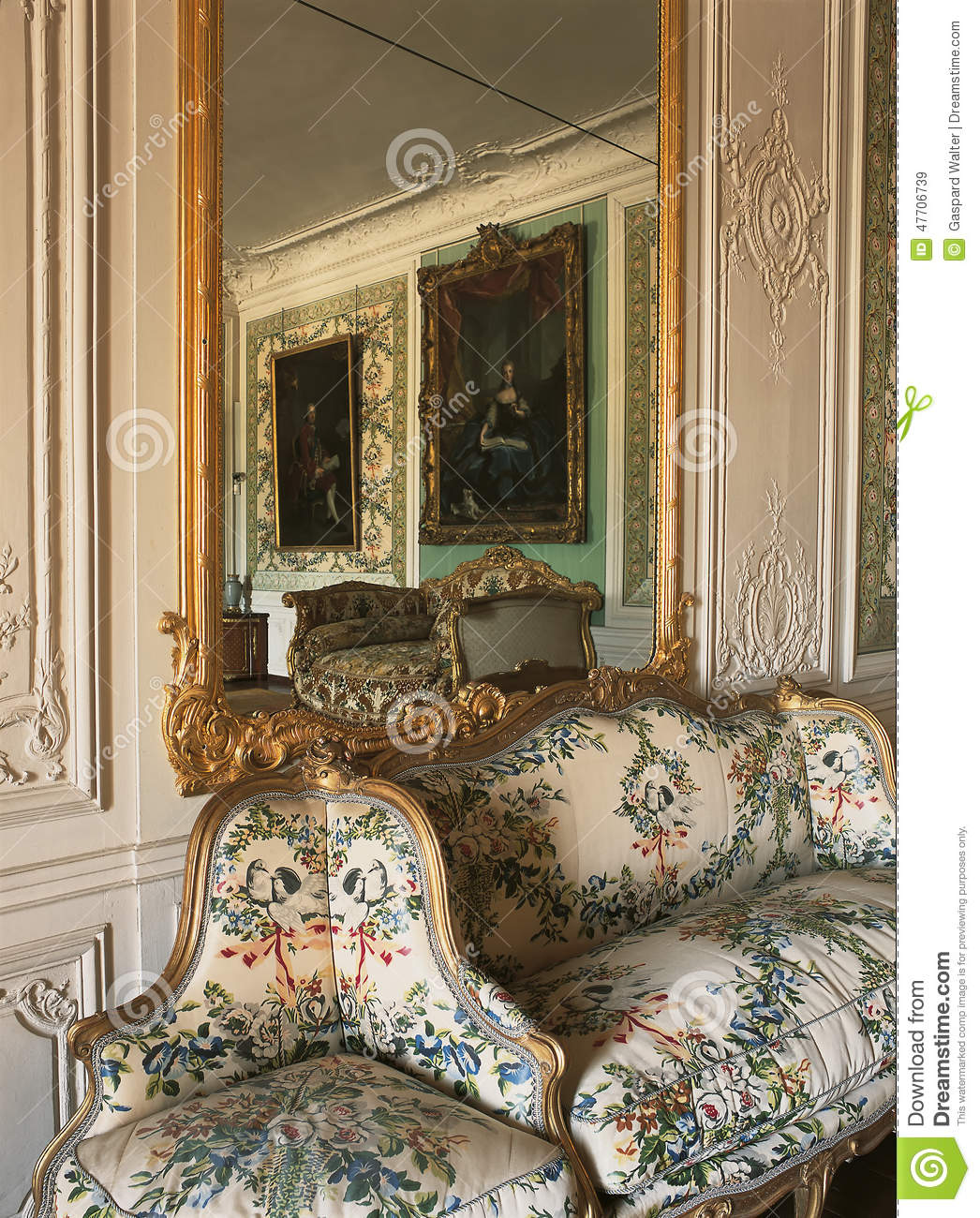 Large Mirror And Furniture At Versailles Palace Editorial Stock Image Image 47706739